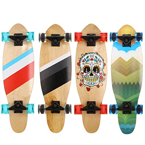 WeSkate Mini Cruiser Skateboard 7-lagiges Ahornholz ABEC-9 Kugellager 85A Rollenhärte Komplett Board