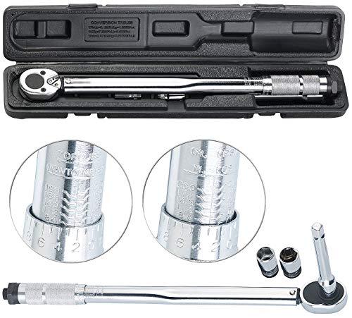 AGT Professional Drehmomentenschlüssel: Profi-Drehmomentschlüssel mit Stecknuss-Set, 28-210 Nm, Verlängerung (Drehmoment-Schlüssel)