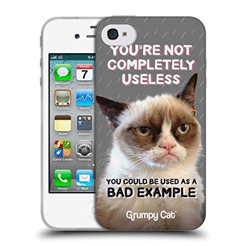 Offizielle Grumpy Cat No Zitate Soft Gel Hülle für Apple iPhone 6 / 6s Nutzlos