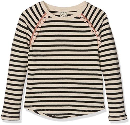 Scotch R'Belle Mädchen T-Shirt Cotton Linen-Blend Longsleeve Tee