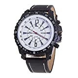 - 51M 2BPbXZOZL - Gemini_Mall® Men Business Casual Pu Leather Quartz Watch Luxury Wrist Watches
