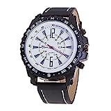 - 51M 2BPbXZOZL - Gemini_Mall® Men Business Casual Pu Leather Quartz Watch Luxury Wrist Watches