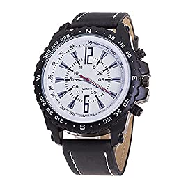 Gemini_Mall® Men Business Casual Pu Leather Quartz Watch Luxury Wrist Watches