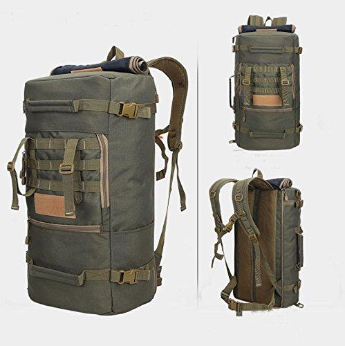 Sport im Freien Bergsteigen Tasche 50L Rucksack Camping Trekking Rucksack Gepäck multifunktionale Paket Camo 5
