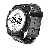 OOZIMO Smartwatch Fitness-Tracker Herzfrequenz-Messgerät IP68 Wasserdicht GPS Sportuhren Für Android
