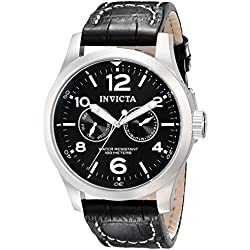 Invicta Men's Invicta II Collection Quartz Watch with Chronograph Display and Leather Strap