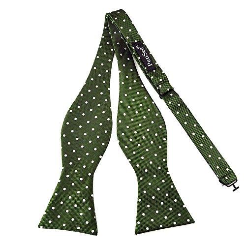 PenSee Herren-Fliege, zum Selbstbinden, klassisches Design mit Punktmuster, gewebte Seide, verschiedene Farben erhältlich (Verschiedene Bowties)
