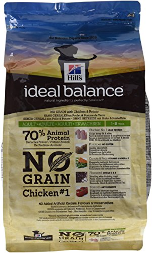 Hill's science Pienso para perros adultos pequeños, medianos y grandes hill's ideal balance no grain pollo