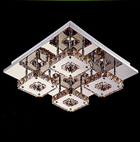 Moderne Kronleuchter Deckenleuchten Anhänger Contracted Square Dome Light Führte Das Wohnzimmer Crystal Absorb Dome Light Wohnzimmer Restaurant Schlafzimmer Licht 3C Ce Fcc Rohs für Wohnzimmer Schlaf -