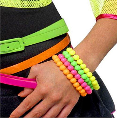 - 8 x Perlen Armbänder ┃ 80er Jahre Neonfarben ┃ 8 er Set ┃ Blickfang (80er Jahre Gürtel)