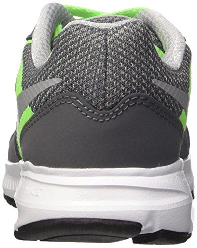 Nike , Bas garçon Gris / vert / blanc (gris foncé / gris loup - vert électrique - blanc)