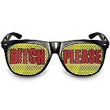 COOLEARTIKEL Party-Brille Fun-Brille Spaß-Brille mit Motiv 'Bitch Please' das lustige Party und Event Gadget für Geburtstage, Fasching, Karneval, Mallorca Partys und Festivals