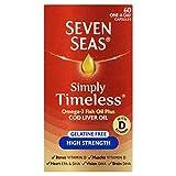 Seven Seas Omega-3 Fish Oil Plus Cod Liver Oil High Strength Gelatine Free 60 Capsules