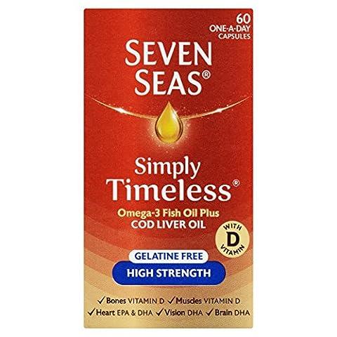 Seven Seas Pure Cod Liver Oil High Strength With Omega 3 Plus Vitamins D & E ...