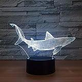 3D Acryl Nachtlicht New Shark 3D Führte Angelwerkzeuge Innerhalb Fisch Tischlampe Home Decor Party 7 Farben Ändern Nachtlicht Nacht Schlaf Decor Light