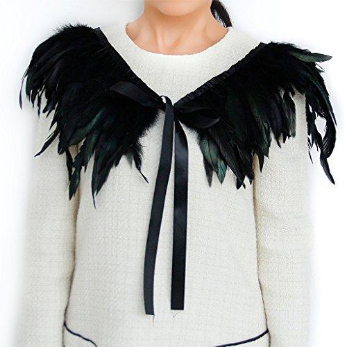 Gotik Kragen Federhalsband Federkragen DIY Travestie Party Fancy Kostuem Collar