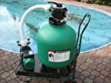 Leis 750 Sandfilter 12m³h Sandfilteranlage Poolfilter Filter 60 Kg Inhalt