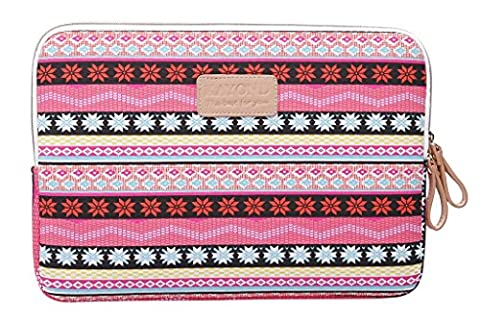 Orien Classical Ethnic Stripe Notebook Case Inside Bohemian Laptop Messenger Carrying Bag (14 Inches,