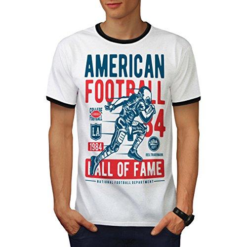 amerikanisch Fußball Sport Herren S Ringer T-shirt | Wellcoda (T-shirt Rallye Ringer)