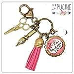 Porte clés - bijou de sac Maîtresse - Bronze et cabochon verre illustré Élue Maîtresse de l'Année - idée cadeau maîtresse...