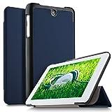 IVSO Acer ICONIA ONE 7 B1-7A0 Hülle, Ultra Schlank Ständer Slim Leder zubehör Schutzhülle perfekt geeignet für Acer ICONIA ONE 7 B1-7A0-K17V Tablet PC, Blau