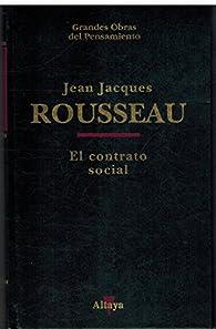 El contrato social par Jean-Jacques Rousseau