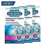 Dr. Beckmann - Nettoyant et Hygiène Lave-Linge 250 g - Pour une hygiène parfaite de la machine à laver - Elimine efficacement les résidus & saletés responsables des mauvaises odeurs - Lot de 3