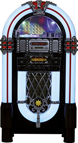 rené Pietra–Jukebox Retro Stereo (Lettore CD–Porta USB–Radio FM–Porta Jack)