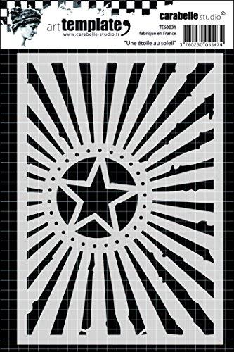 Carabelle Studio A Star in The Sun Plantilla, Plastico, 10.0x14.0x0.5 cm