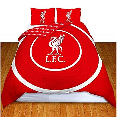 Liverpool FC Official Bullseye Reversible Duvet Cover Bedding Set (Single And Double)