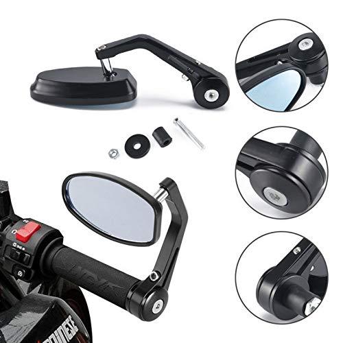 QUGOUSD Rétroviseur Moto Rétroviseurs de rétroviseur de Guidon CNC 7/8 pour Moto, pour Kawasaki Z750 Z800 Z900 Z1000 ER-6N ER-6F Ninja