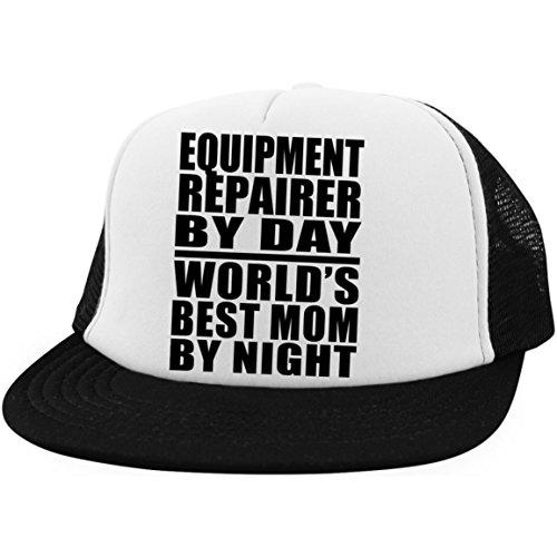 Equipment Repairer by Day Worlds Best Mom by Night - Trucker Hat Fernfahrer-Kappe Golfkappe Baseballkappe - Geschenk zum Geburtstag Jahrestag Muttertag Vatertag Ostern Brushed Twill Hat