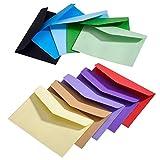 100 Stück Mini Umschlag Mehrfarbig Niedlich Schöne (4,5 x 3,15 Zoll) für Hochzeit, Geburtstag Party Geschenk Angebot