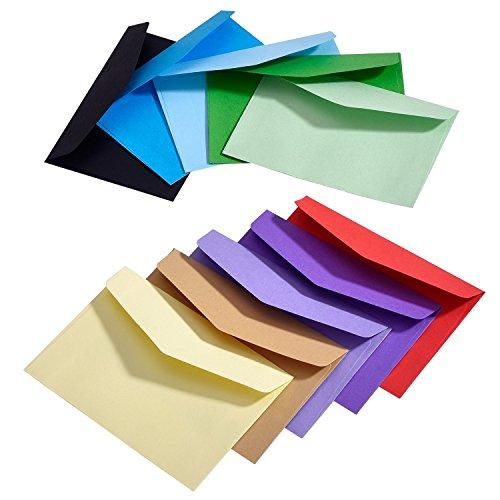 100 Stück Mini Umschlag Mehrfarbig Niedlich Schöne (4,5 x 3,15 Zoll) für Hochzeit, Geburtstag Party Geschenk Angebot (Visitenkarten-umschlag)