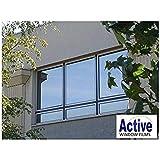 Silver Reflective Window Film (Solar Control & Privacy Tint - One Way Mirror/Mirrored Glass) (50cm x 1 metre - 10 metre) (50cm x 1 metre)