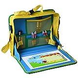 AYAOQIANG Reise Tablet Kinder Auto Knietablett, Auto-Sitz-Spielraum-Behälter bequem und einfach multi Funktionen wasserdichtes Tablett