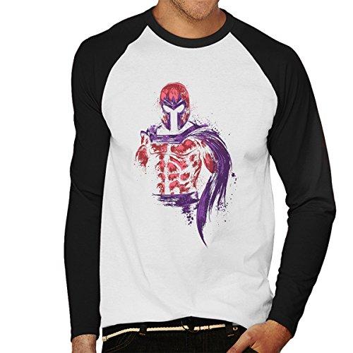 X Men Magnetic Warrior Magneto Men's Baseball Long Sleeved T-Shirt