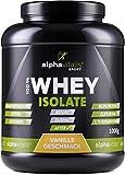 Whey Isolat Vanille - H²O-optimiert - 86,9% Protein! - Zuckerfrei - Fettfrei - 1000g - ohne Aspartam oder Cyclamat