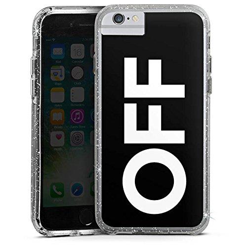 Apple iPhone 7 Bumper Hülle Bumper Case Glitzer Hülle House Electro Techno Bumper Case Glitzer silber