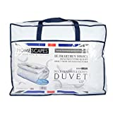 King (230 x 220 cm) : Homescapes White Duck Feather & Down 15 Tog King Size Duvet - 100% Cotton Anti Dust Mite & Down Proof Fabric - Anti allergen - Washable at Home - Luxury Winter Quilt