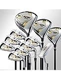 HDPP Club di Golf Mazze da Golf Set Completo di Mazze Club Driver + Fairway Wood + Irons + Putter Graphite Golf Golf Set da Golf