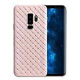 Samsung Galaxy S9 Hülle, Ultra-Slim gewebtes Muster Silikon Case, Dünnes Gummi Schutzhülle Skin Etui Handy-Tasche Back-Cover Bumper für Samsung Galaxy S9/S9 Plus (Samsung Galaxy S9, Rosa)