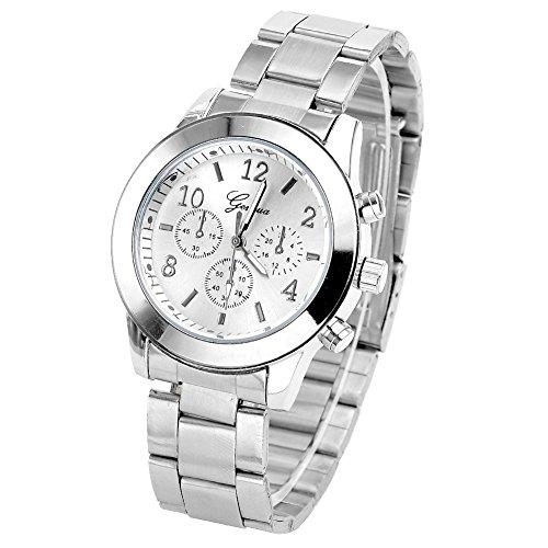 JS Direct jwq00942 - Reloj para mujeres, correa de acero inoxidable