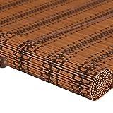 WENZHE Bambusrollo Fenster Sichtschutz Rollos Holzrollo Bambus Raffrollo Bildschirm Abgeschnitten Kann Heben Kordelzug Schattierung Atmungsaktiv, Bambus, 4 Stile, 17 Größen Optional