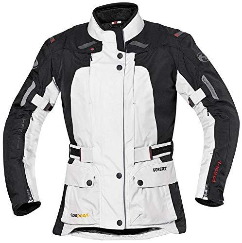 Held Davina Damen Textiljacke GTX, Farbe grau-schwarz, Größe D4XL Air-mesh-liner