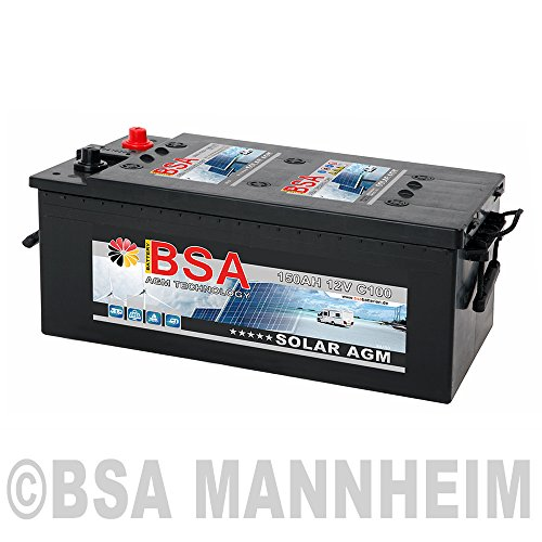 Preisvergleich Produktbild BSA Solarbatterie 12V 150Ah Solar Akku Wohnmobil Boot Schiff Versorgung AGM Gel Batterie