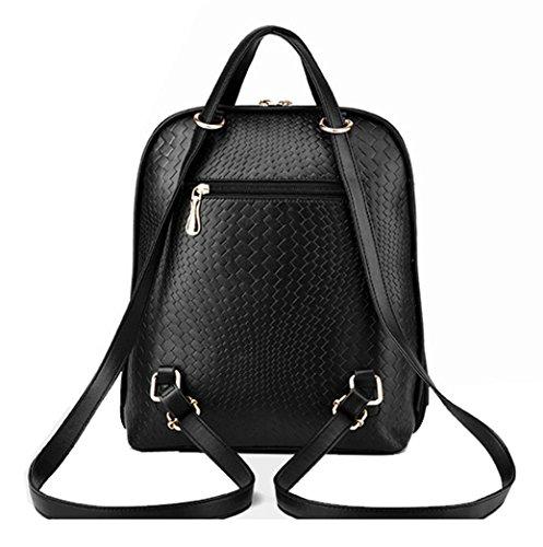 Imagen de tibes bolsa mujer mini  impermeable  de cuero  de estudiante negro negro alternativa
