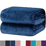 Bedsure Kuscheldecke 150x200cm Flauschige Wohndecke Blau Navy - hochwertige Decke warm & weich Microfaser flanelle Fleecedecke, Falten-beständig Anti-verfärben Sofadecke