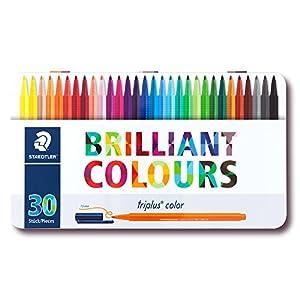 Staedtler Triplus Color 323 M30. Rotuladores de colores de punta fina multicolor. Estuche con 30 marcadores.