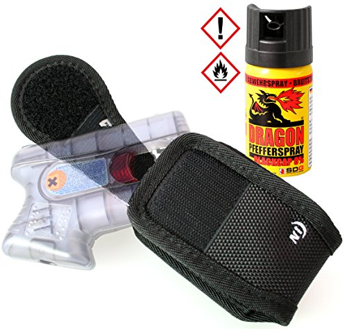 Security-Discount Germany - 360° Gürtelholster für Piexon Guardian Angel 2/3 inkl. 40ml Dragon Pfefferspray